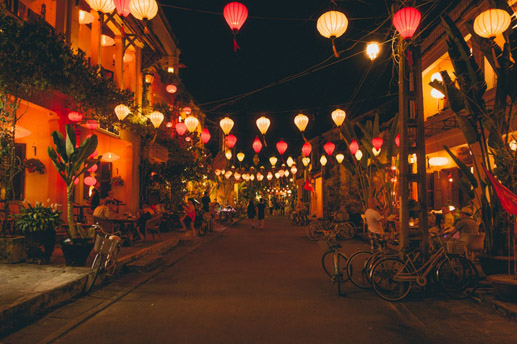 Tranquil Hoian Ancient town at night