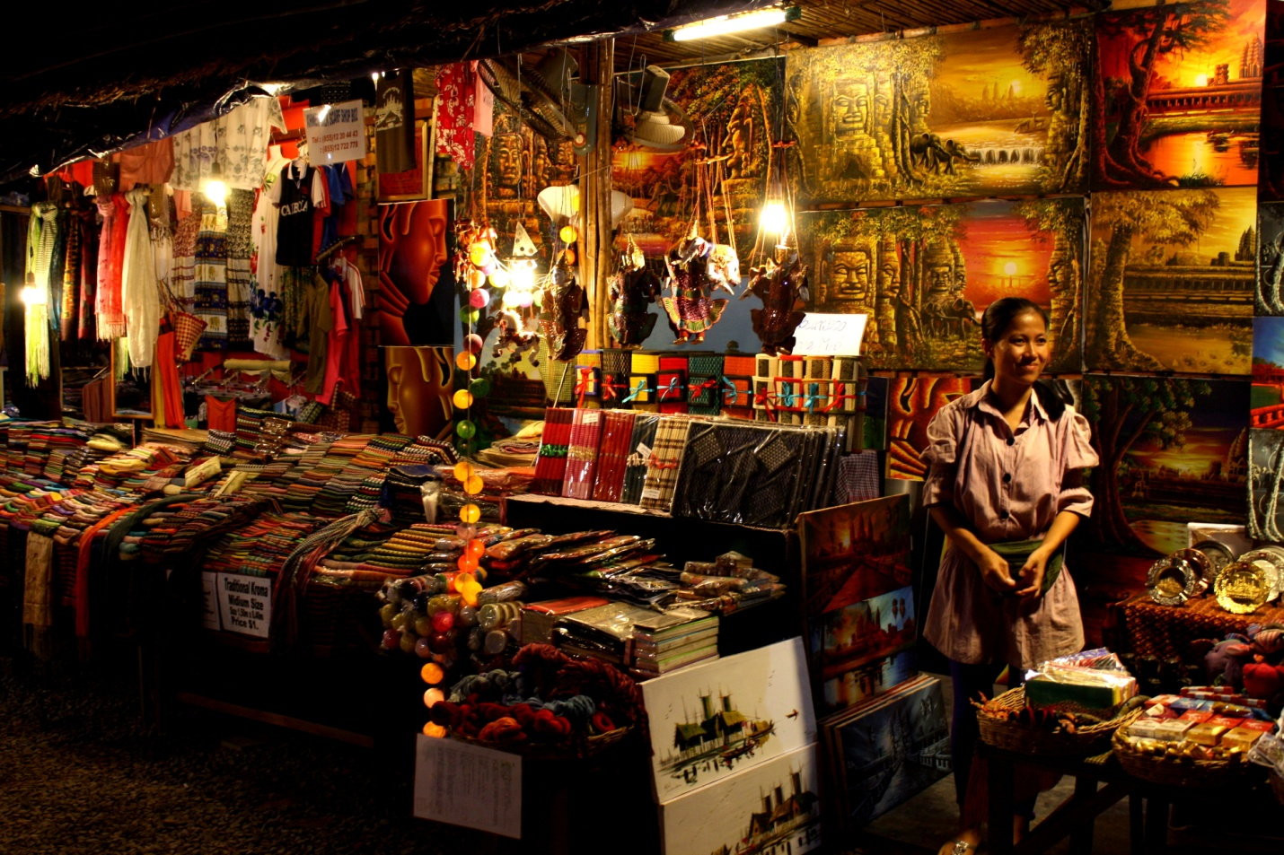 Angkor Night market, an ideal place to go shopping