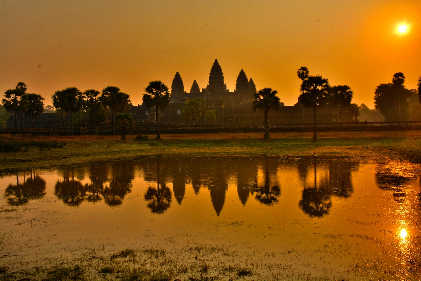 Angkor Wat scenery at the sunris