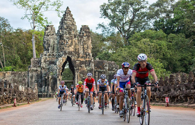Cycling at Angkor Wat, Siem Reap