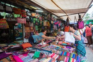 The outside section of Talat Sao morning market