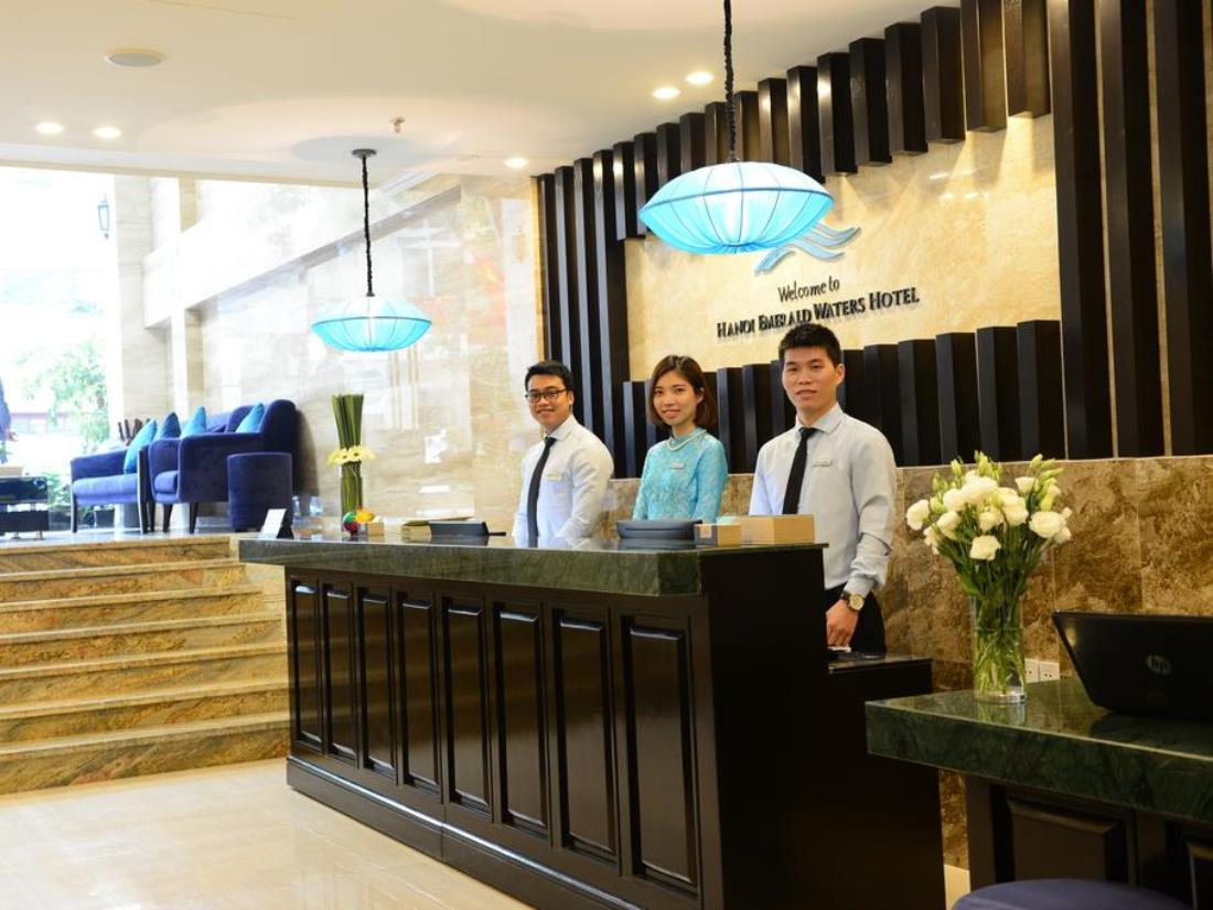 The receptionists of Hoian Emerald Waters Hotel and Spa are very friendly
