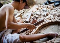Carpentry traditional artist in Kim Bong Village