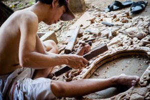 Carpentry traditional artist in Kim Bong Village