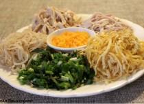 Ingredients to make Bun Thang