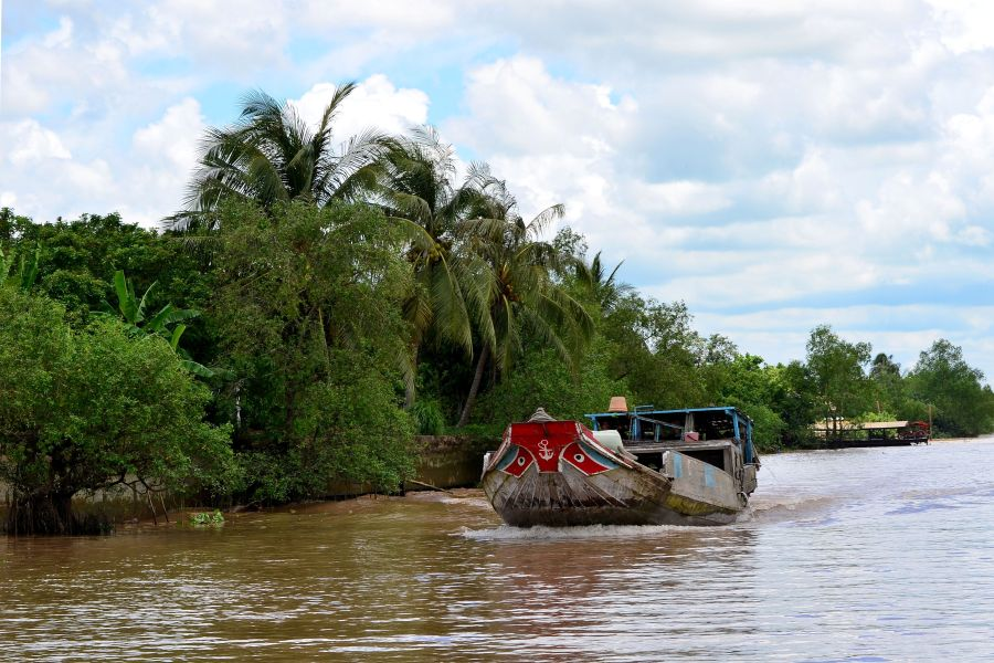 The peaceful atmosphere in the Mekong Delta