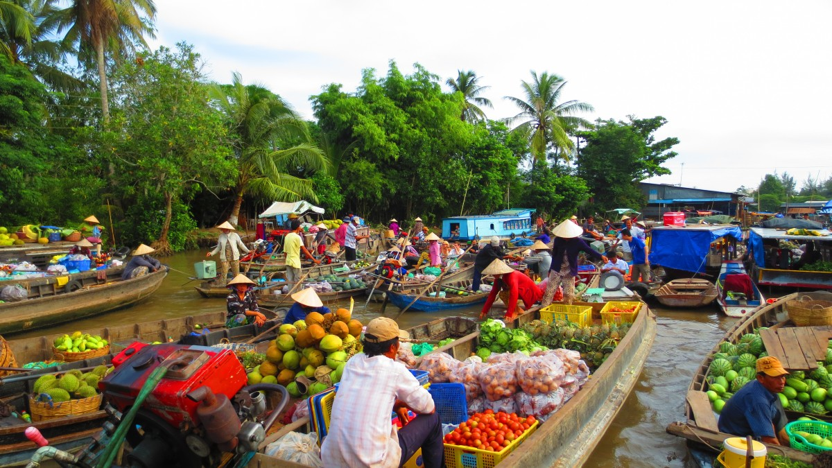 Mekong delta is typicaly tropical climate