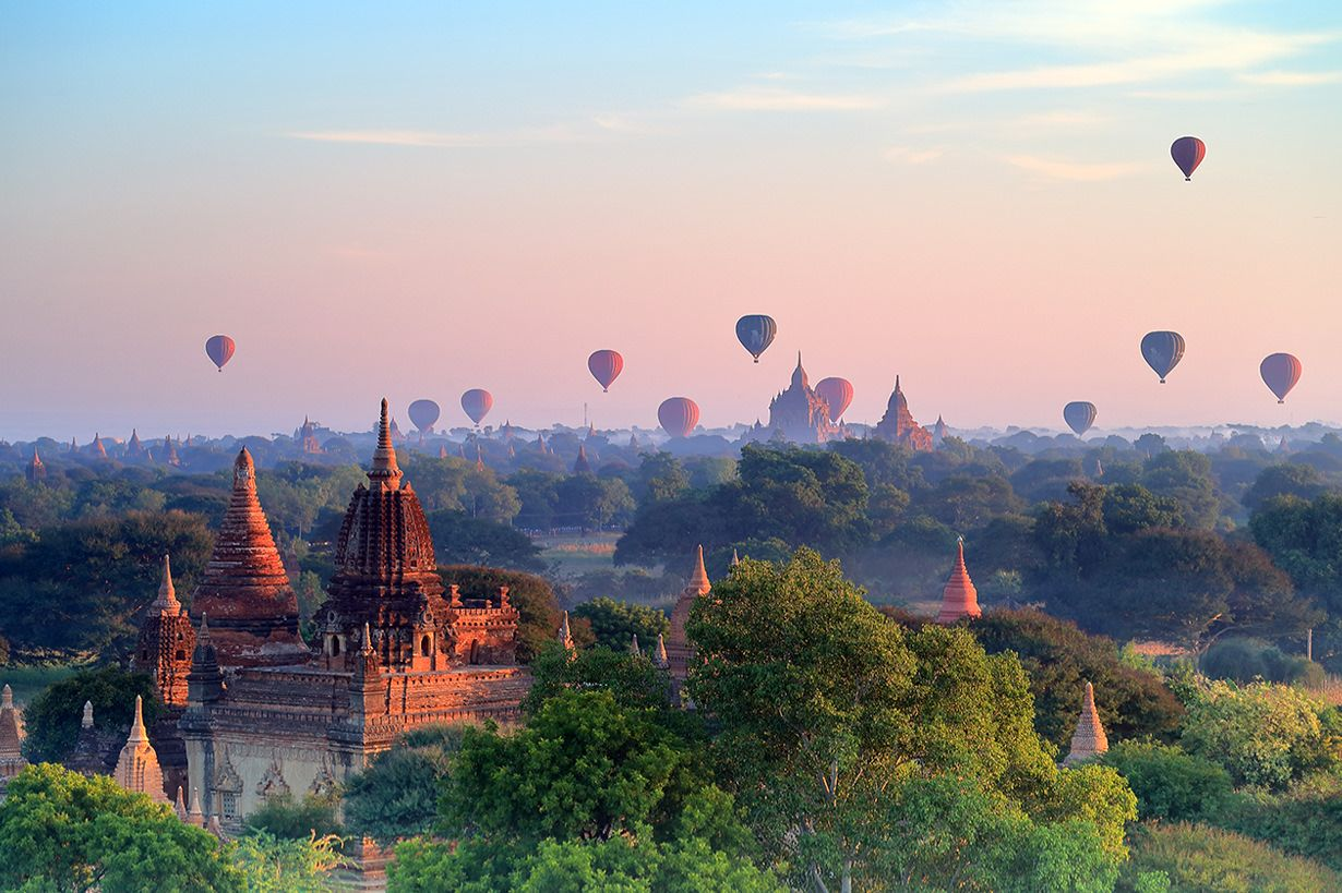 The ancient Bagan capital of Myanmar
