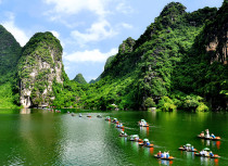The very beautiful weather of Ninh Binh