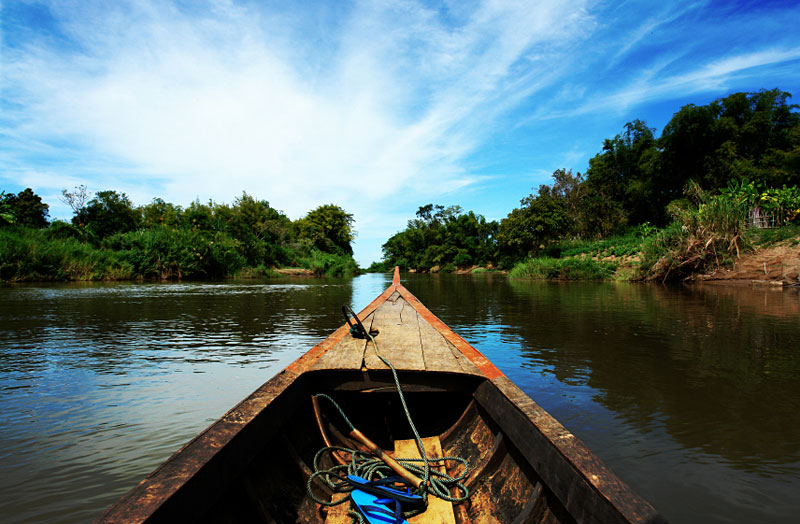 Travel on boat in Mekong Delta