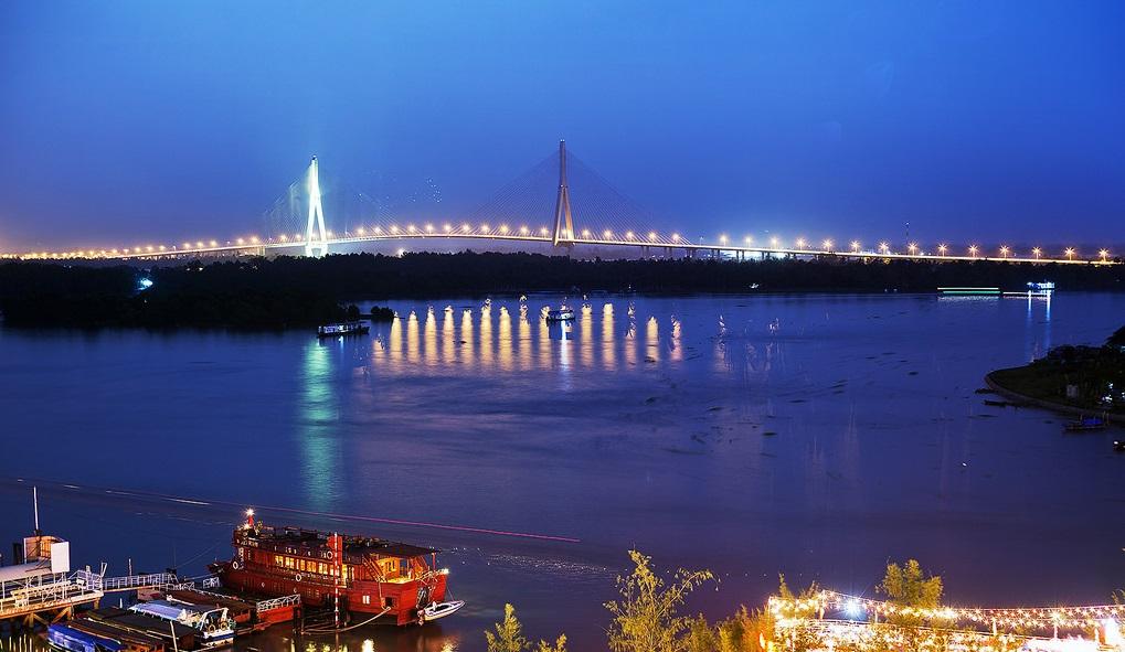 Ninh Kieu Harbor on Hau River in Can Tho