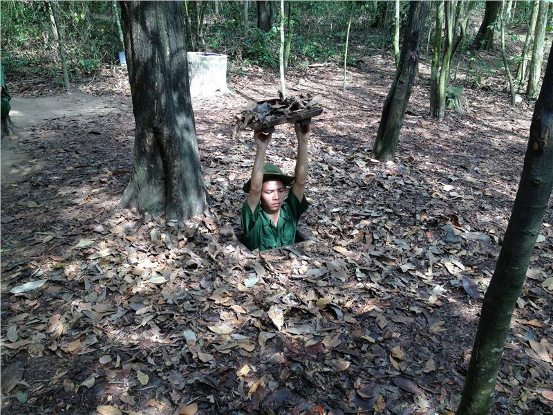 One of the entrances of the Cu Chi Tunnels