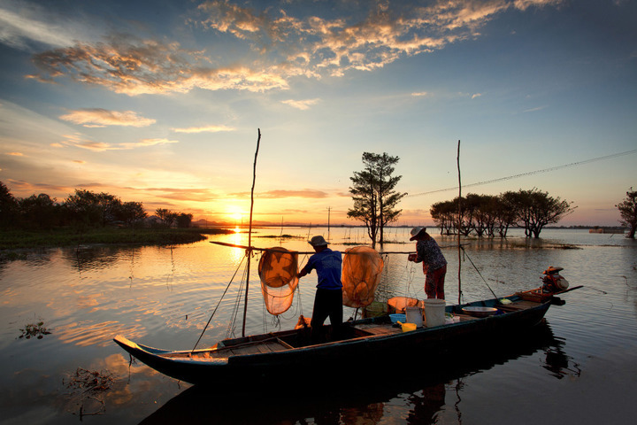 The Mekong River is beautiful all year round