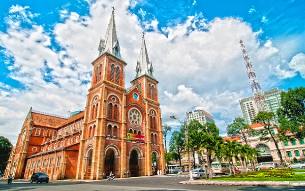 The Notre Dame Cathedral- a spotlight in Saigon