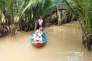 The Mekong Delta's weather varies