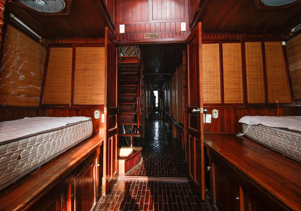 authentic Mekong cruise bedroom