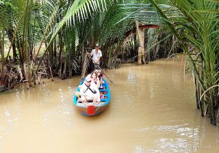 Small boats to reach remote rural hamlets