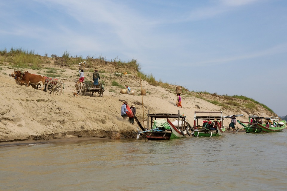 Irrawaddy river bank