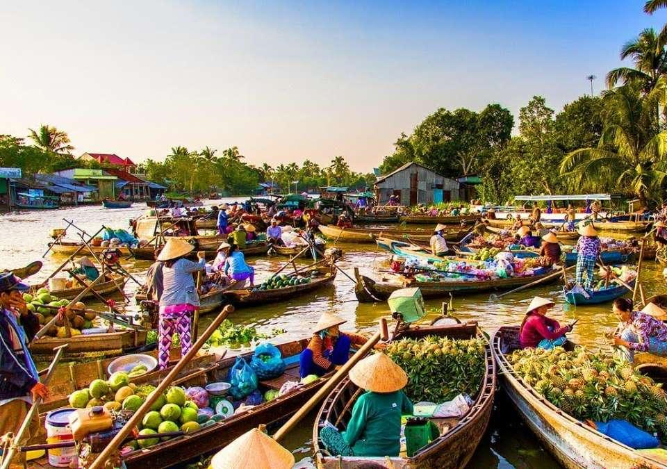 Vinh Long Vietnam Floating Market