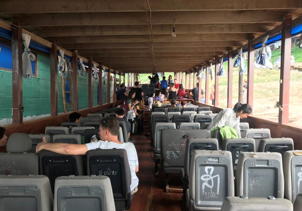The public slow boat from Huay Xai to Luang Prabang